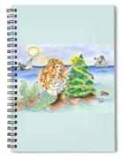 Christmas Mermaid Spiral Notebook