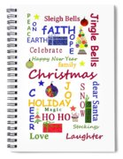 Christmas Message  -  Typography Spiral Notebook