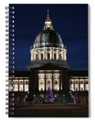 Christmas Night In Sf Spiral Notebook