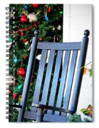 Christmas On The Porch Spiral Notebook