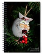 Christmas Owl Spiral Notebook