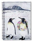 Christmas Penguins Spiral Notebook