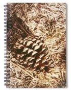 Christmas Pinecone On Barn Floor Spiral Notebook