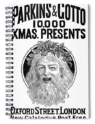 Christmas Present Ad, 1890 Spiral Notebook