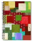 Christmas Quilt Spiral Notebook