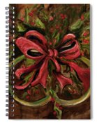 Christmas Red Ribbon Spiral Notebook