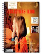 Christmas Ride Family Poster By Karen E. Francis Spiral Notebook