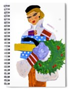 Christmas Shopping - Shop On-line Spiral Notebook