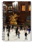 Christmas Skating Ny Style Spiral Notebook