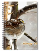 Christmas Sparrow - Christmas Card Spiral Notebook