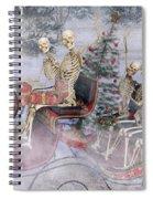 Christmas Spirits Heading To Topsail Island Nc Spiral Notebook