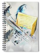 Christmas Time Music Spiral Notebook
