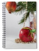 Christmas Tree Branch And Decoration In A Vase Spiral Notebook