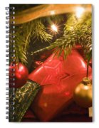 Christmas Tree Decorations And Gifts Spiral Notebook