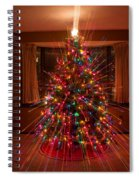 Christmas Tree Light Spikes Colorful Abstract Spiral Notebook