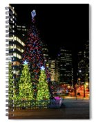 Christmas Tree On New Year's Eve In The Street Of A Big City Spiral Notebook