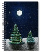 Christmas Trees In The Moonlight Spiral Notebook