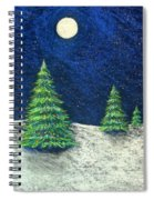 Christmas Trees In The Snow Spiral Notebook