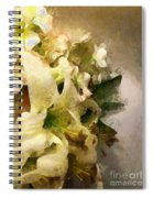 Christmas White Flowers Spiral Notebook