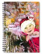 Christmas With My Sheep Spiral Notebook