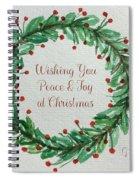 Christmas Wreath Spiral Notebook
