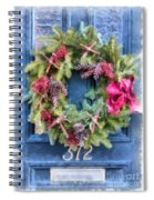 Christmas Wreath Watercolor Spiral Notebook