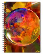 Chromatic Floral Sphere Spiral Notebook