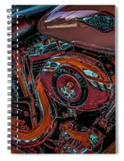 Chrome Leather And Power 1481 H_2 Spiral Notebook