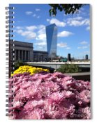 Chrysanthemums And Cirrus  Spiral Notebook