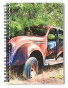 Chrysler Airflow Painterly Expression Spiral Notebook
