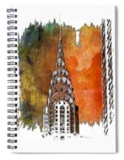 Chrysler Spire Earthy Rainbow 3 Dimensional Spiral Notebook