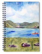 Chrystal Lake  Barton Vt  Spiral Notebook