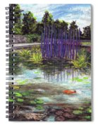 Chuhuly Installation At Biltmore Water Gardens Spiral Notebook