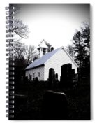 Church And Cemetary- Lens Spiral Notebook