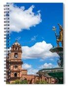 Church And Fountain In Cusco Peru Spiral Notebook