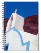 Church And Windmill In Santorini Greece Spiral Notebook