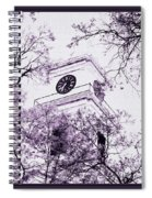 Church Clock In Autumn Spiral Notebook