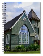 Church In Hanalei Kauai  Spiral Notebook
