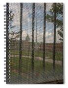 Church In Prison Yard Through Bars Spiral Notebook