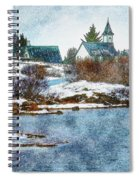 Church In Thingvellir Spiral Notebook
