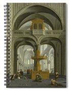 Church Interior Spiral Notebook
