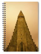 Church Of Fire Spiral Notebook