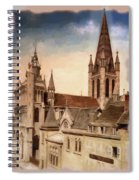 Church Of Notre-dame Of Dijon France - Remastered Spiral Notebook