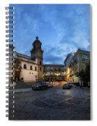 Church Of Santo Domingo Panorama Cadiz Spain Spiral Notebook