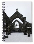 Church Of St Thomas A Becket In Heptonstall In Falling Snow Spiral Notebook