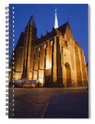 Church Of The Holy Cross By Night In Wroclaw Spiral Notebook