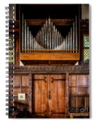 Church Organ Spiral Notebook