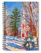Church Snow Scene Spiral Notebook