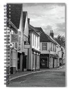 Church Street Sawbridgeworth In Black And White Spiral Notebook
