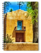 Church With Blue Door Spiral Notebook